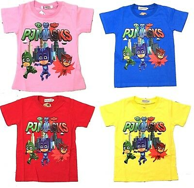 New Size 2-6 Kids T-Shirt Pj Masks Tops Tee Outfit Shirt Boys Girls Pyjamas Xmas