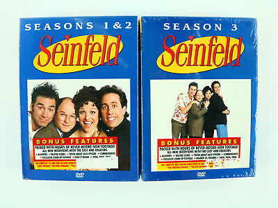 Seinfeld Season 1 2 and 3 Lot of 2 DVD Set 2004 Brand New - Free Shipping