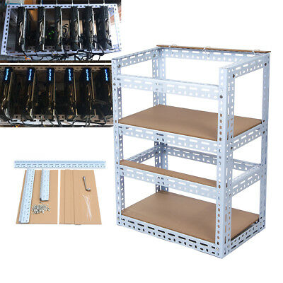 Aluminum Stackable Mining Case 8 GPU Rig Open Air Frame For ETC/ BTC Cash US