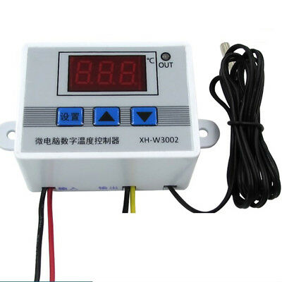 220v 12v 24v Digital LCD display Temperature Thermostat Control Switch 10A New