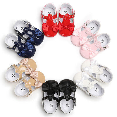 AU Christmas Baby Kids Girls Boys Toddler Walking First Party Shoes 0-18M Gift