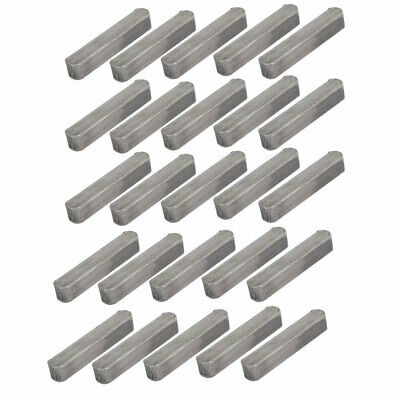 uxcell 30mmx8mmx7mm Carbon Steel Key Stock to Lock Pulleys 25pcs