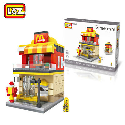 Loz Mini Street Architecture City Scenery Fast Foods Store Architecture Blocks
