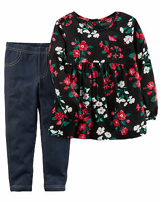 Carters Toddler Girls Floral Tunic Jeggings Set