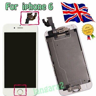 """For IPhone 6 4.7"""" Full LCD Screen Replacement Digitizer Touch Assembly White"""