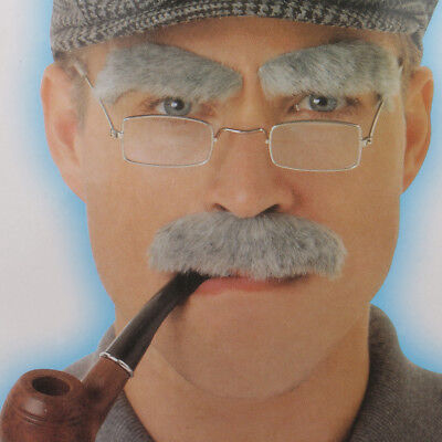 Funny Old Man Eyebrows Mustaches Party Fancy Dress Cosplay Props