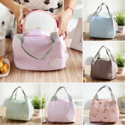 AU Portable Insulate Thermal Cooler Lunch Box Carry Tote Picnic Case Storage Bag