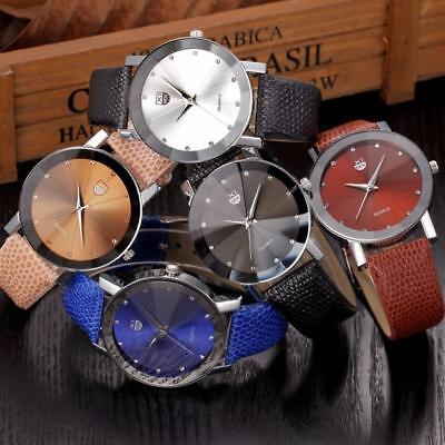Luxury Men Stainless Steel Quartz Military Sport Leather Band Analog Wrist Watch