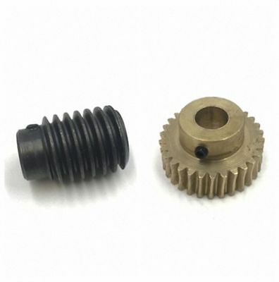1.0 Modulus 20 to 40 Teeth Worm and Gear Set For Shaft Drive Gearbox - Select