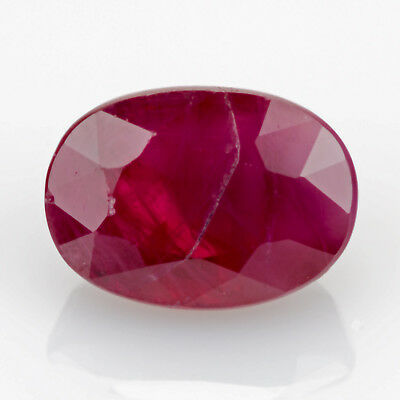1.30ct Ruby. Purplish Red color, with a good polish and deeply saturated color.
