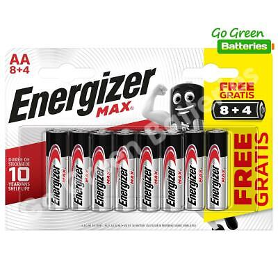 12x Energizer AA MAX Alkaline Powerseal Batteries LR6 MN1500 MIGNON *FILM OFFER*