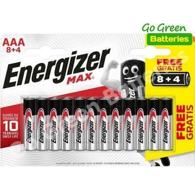 12 x Energizer AAA MAX Alkaline Powerseal Batteries - LR03 MX2400 MN2400 MICRO