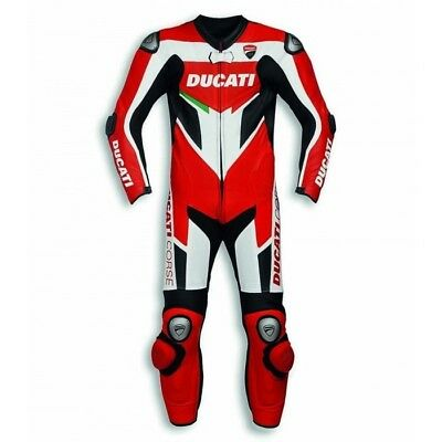Genuine Ducati Corse C3 1&2 PC Leather Motorcycle Race Suit by Dainese All Sizes