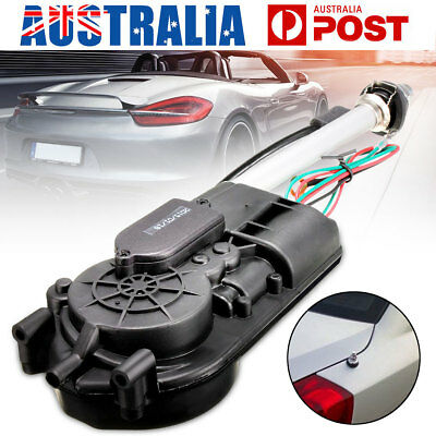 Car Auto Electric Aerial Antenna Radio Automatic Booster Power FM Mast Black Kit