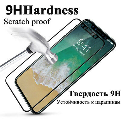 """Glass Screen Protector Tempered Glass for iPhone X 5.8"""" Anti-Shatter Toughened"""