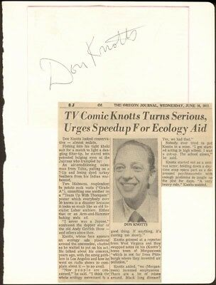Don Knotts - Signature(S)