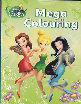 Disney Fairies Mega Colouring Book (Paperback)