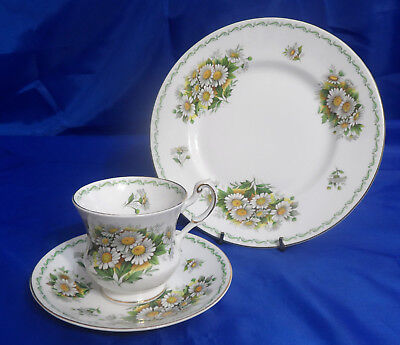 ROSINA QUEENS Special Flowers (Smooth, No Rib) Trio - Cup, Saucer & Salad Plate