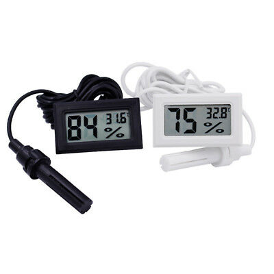 Digital LCD Thermometer Hygrometer Temperature Humidity Meter Probe Sensor2017