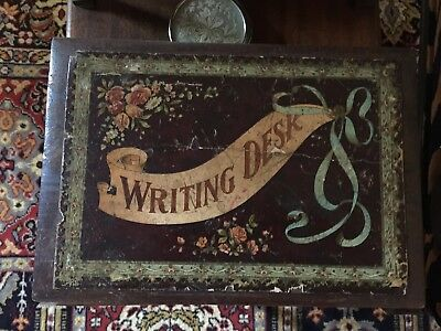 BRITISH VICTORIAN/EDWARDIAN LAP WRITING SCHOOL DESK-before 1910-valuation