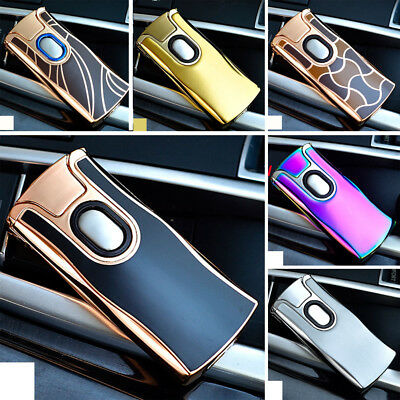 Electric Rechargeable Lighter Arc USB Windproof Flameless Dual Plasma Torch New