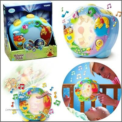 Tomy Winnie The Pooh Sweet Dreams Lightshow Baby Musical Mobile Projector