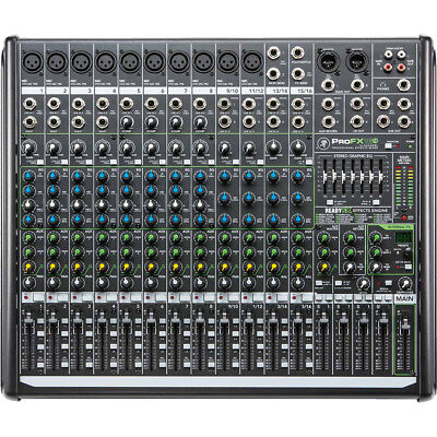 Mackie ProFX16 V2 16-Channel Professional Mixer with FX EQ & USB, New!