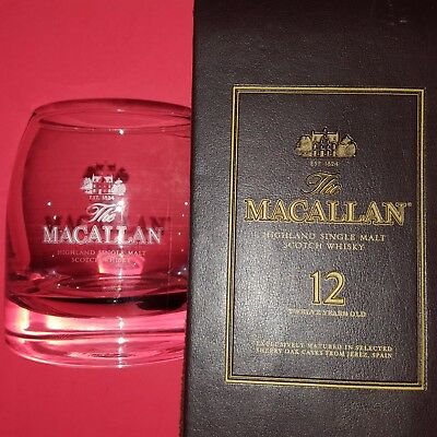 The Macallan Single Malt Scotch Whisky Faux-Leather Bottle Tote Bag +Rocks Glass