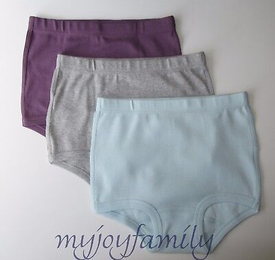HANNA ANDERSSON Organic Under Underwear Classic Purple Blue XS 80 90 2T 3 3  NWT