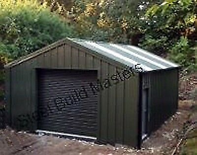 DOUBLE GARAGE/WORKSHOP BY STEEL BUILD MASTERS (6m W x 6m L x 2.4m H)