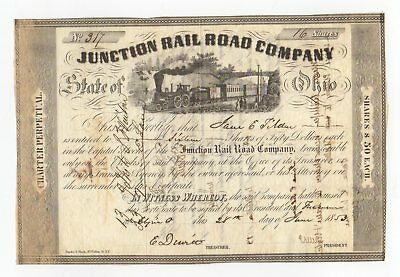 1853 Junction Railroad Company State of Ohio