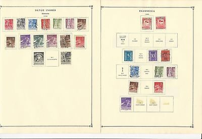 Indonesia Collection 1949-1962 on 24 Scott International Pages