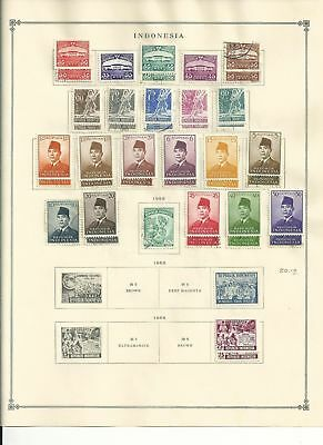 Indonesia Collection 1950-1972 on 35 Scott International Pages