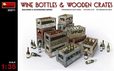 Wine bottles and wooden сrates << MiniArt #35571, 1/35 scale