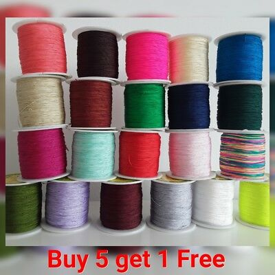 0.5mm Nylon cord thread string for beading trimming sewing jewellery shamballa