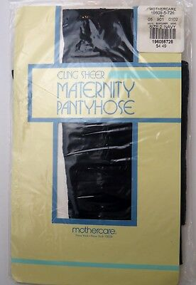 Mothercare Size 2 Maternity Pantyhose Cling Sheer Navy