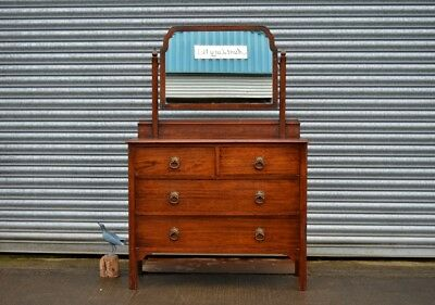 Vintage 1930's Mahogany Chest Of Drawers Gentlemen's Dressing Table.
