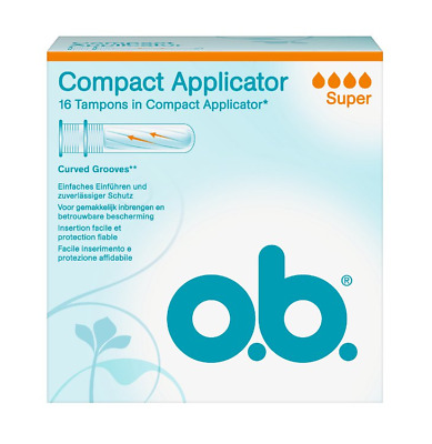 O.B. Tampons Compact Applicator Super, 16 St  3574661049052 Tampon
