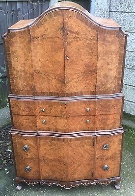 Fine Art Deco Walnut Tallboy Cabinet/chest Lots Of Storage Delivery Available