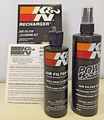 K&N 99-5050 Air Filter Care Service Kit Squeeze Oil 237ml + Cleaner 355ml
