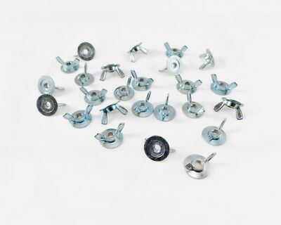 25 Pack 1/4-20 Zinc Plated Forged Washer Base Wing Nuts  5357