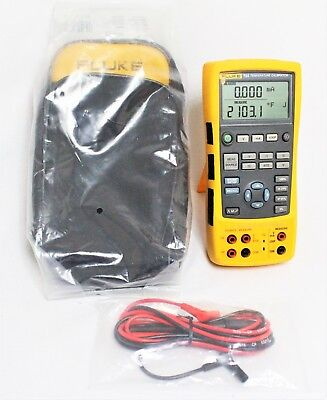 FLUKE 724 TEMPERATURE CALIBRATOR METER TESTER with test leads and NEW soft case
