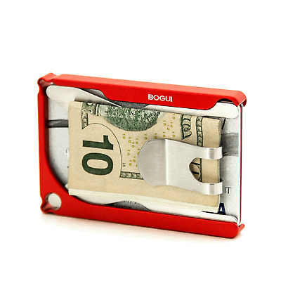 BOGUI Wallet - SLIP - CLIK - Premium Aluminum Wallet - The Ultimate Compact Mini