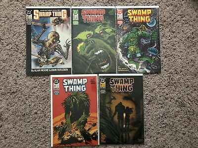 Swamp Thing 5 Issue Comic Lot - 60-64 - 60,61,62,63,64 - Alan Moore DC Comics