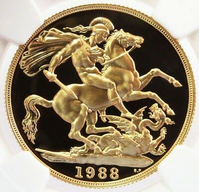 1988 Gold Great Britain 2 Pounds Coin Perfect Ngc Proof 70 Ultra Cameo