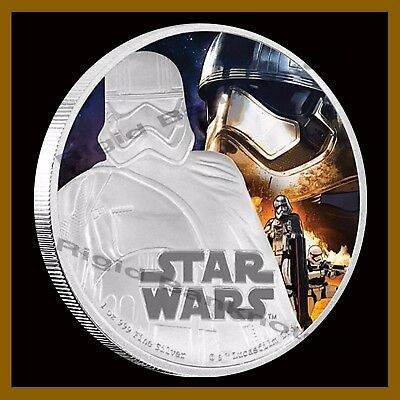 Star Wars $2 Proof 1 Oz Silver Coin 2016 Captain Phasma (The Force Awaken) W/COA