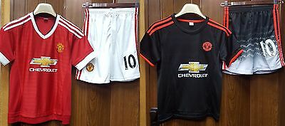 Manchester United - Rooney/Mata/Martial/No Name - Adults/Kids - Jersey + Shorts