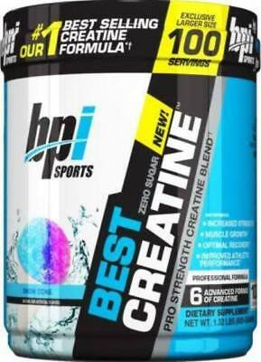 BPI Sports Best Creatine 100 Servings Pre/Post Workout Multiple Flavors New