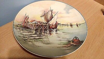 """Royal Doulton 10.5"""" Display Plate """"Home Waters"""" D6434, by W E Grace. Ex. Cond."""