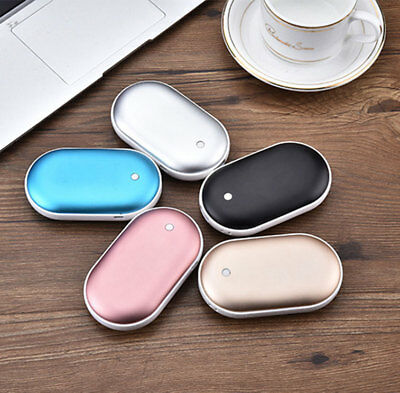 Rechargeable 5000mAh Power Bank Electric Pocket Heater Hand Warmer USB Charger